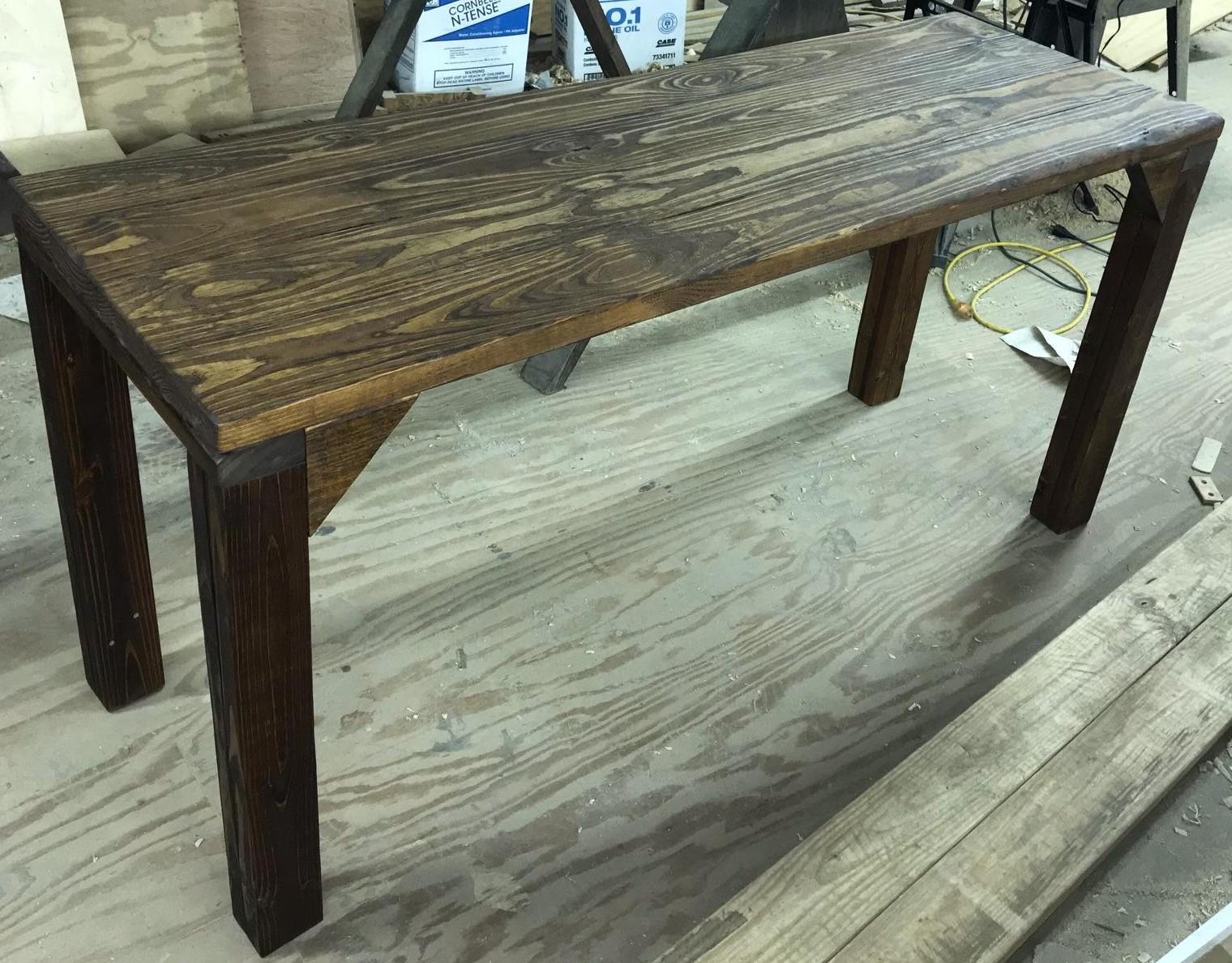 Handmade wood table -
