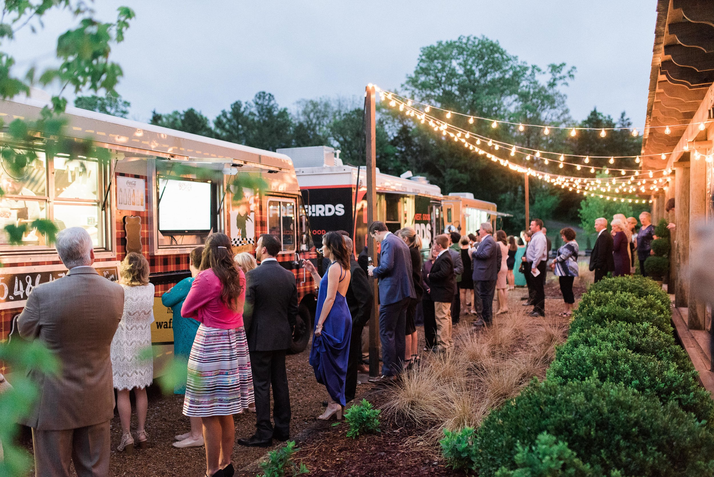 Long Hollow Gardens - Spring Wedding - Nashville Food Trucks