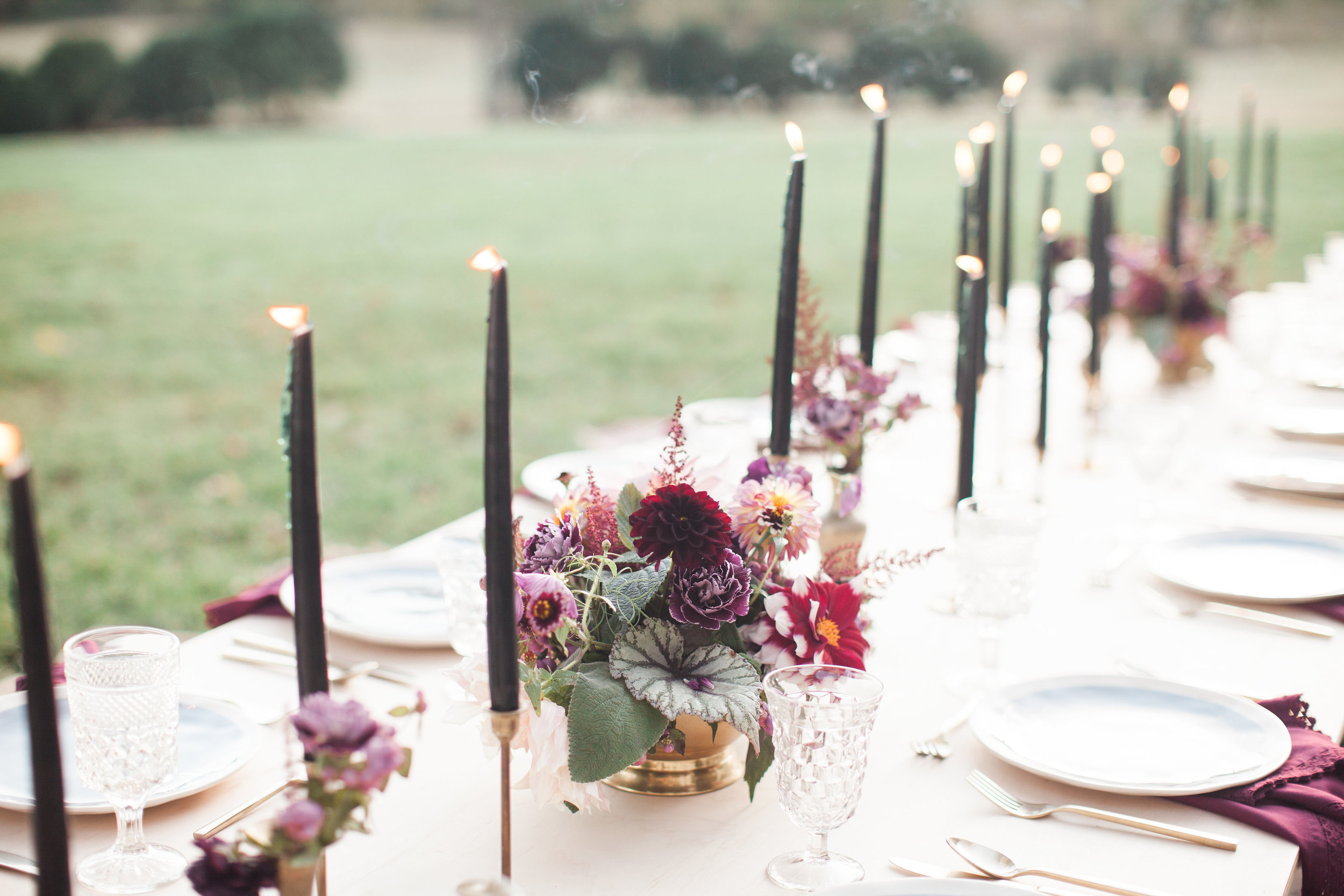 Boho Birthday Party - Black Candles