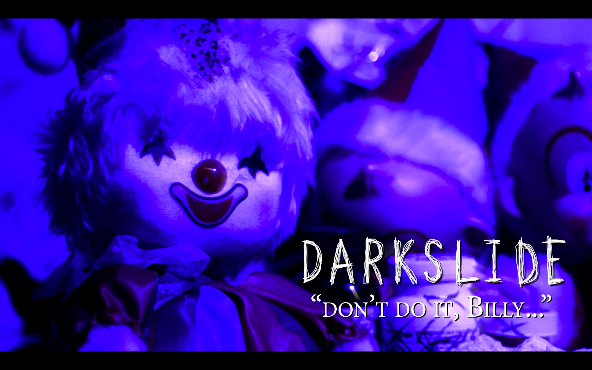 """Don't do it, Billy..."" - a promotional image for DARKSLIDE"