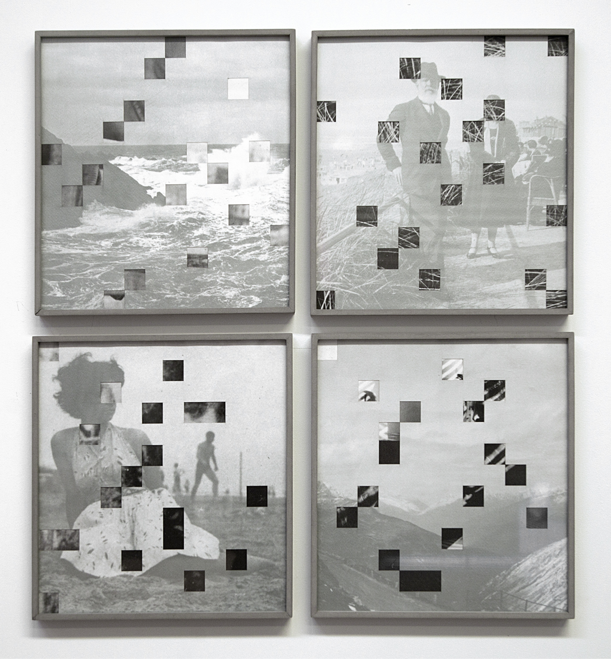 Iñaki Bonillas    Crucigrama 1, 2, 3 y 6    Litografía y corte láser