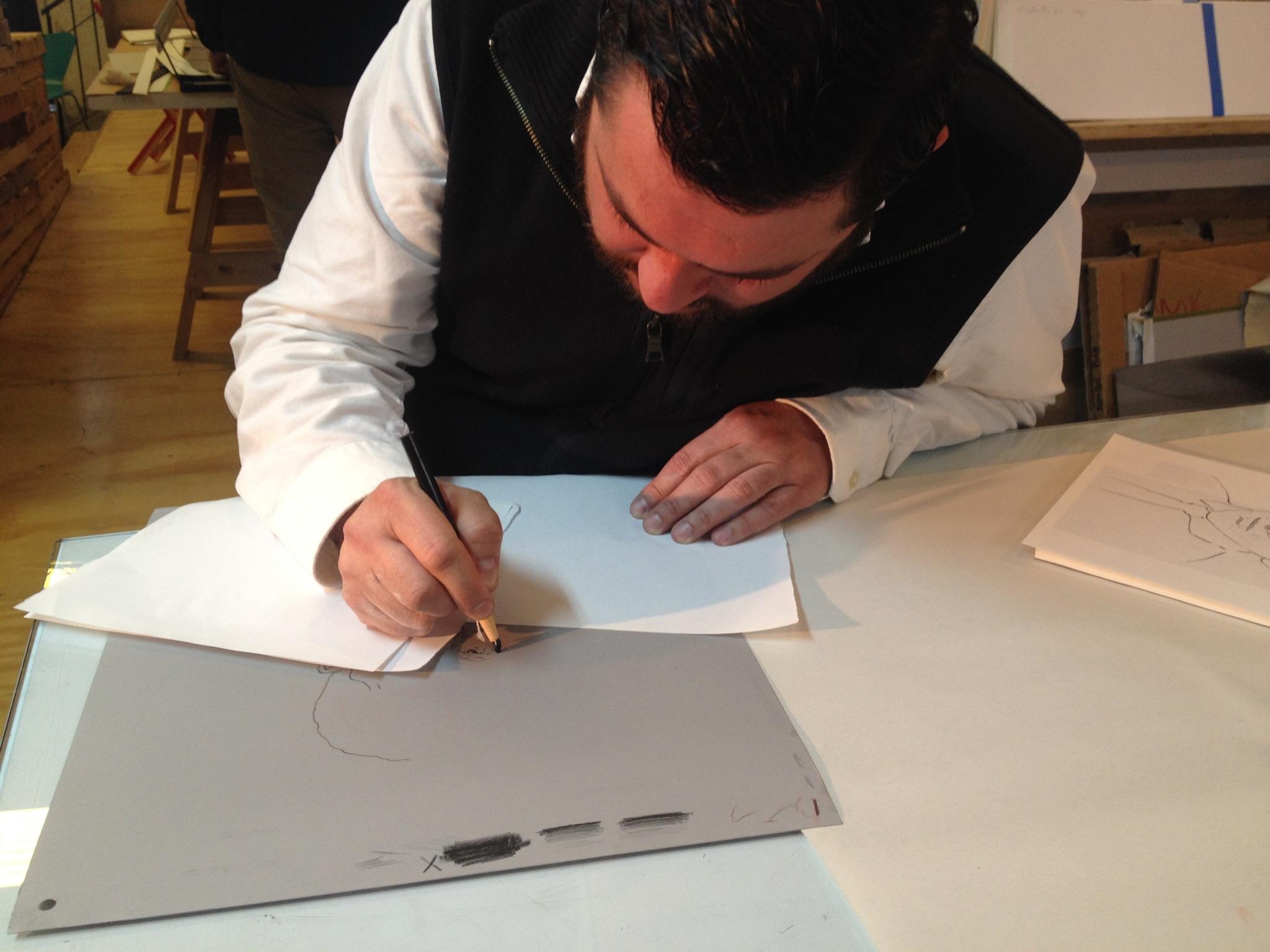 Rafael Rodríguez Grabado sobre placa