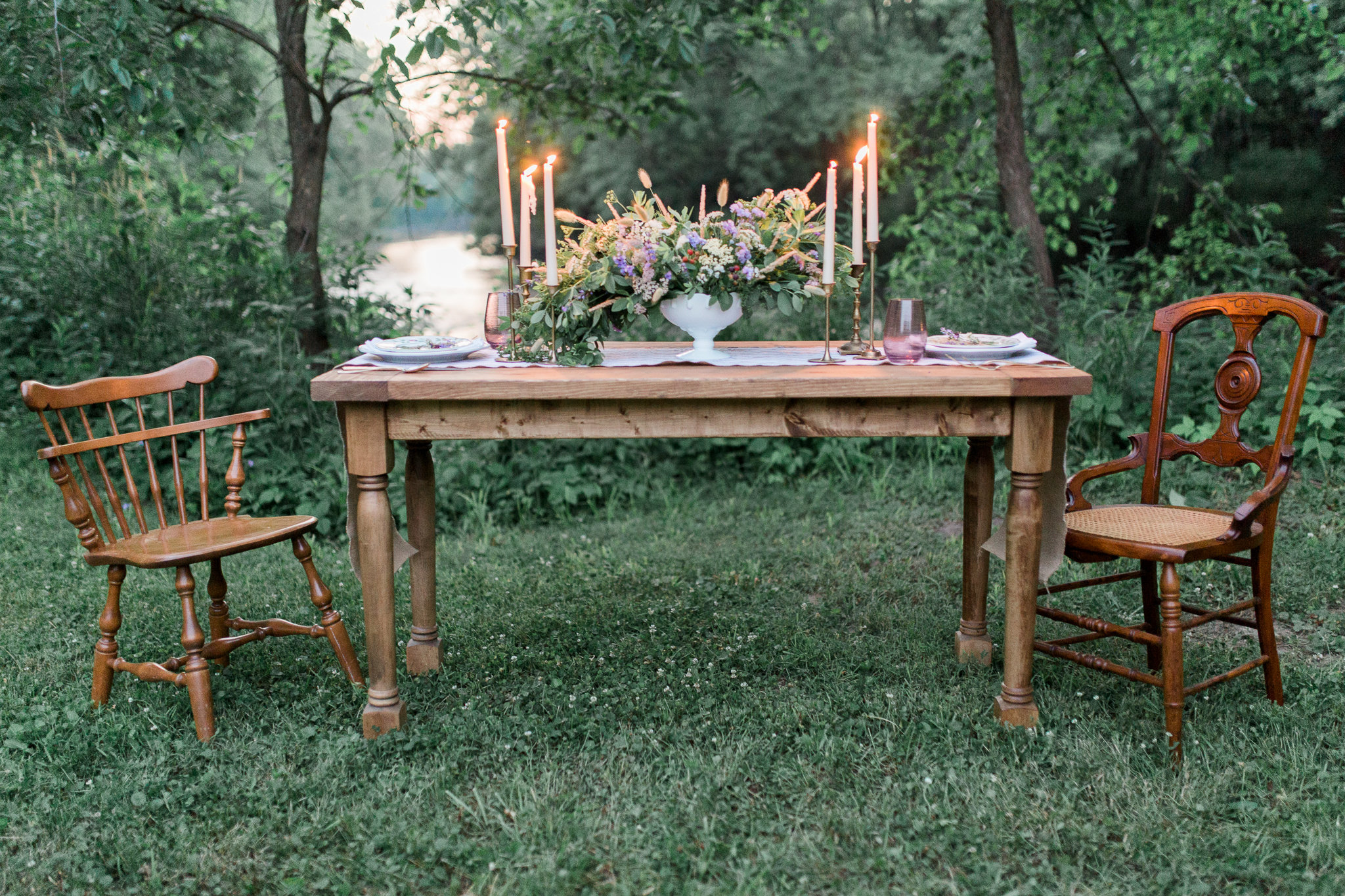 The Heather table photographed by Amelia Zobrist Photography