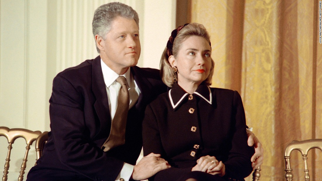 1997 - The Clintons at an event in the White House (CNN)