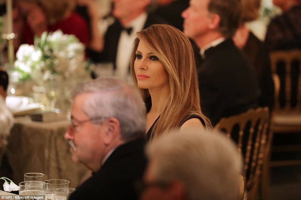 2017 - First Lady Melania Trump hosts the annual Governor's Ball with her husband President Donald Trump in the East Room of the White House. This event is actually still taking place while I'm publishing this post!