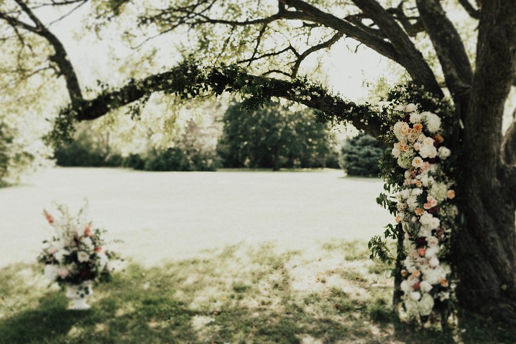 Peoria Illinois Wedding Rentals Spruce Rentals Lauren Fotography Fancy Florals by Nancy Adore Bridals Bremer Jewelry