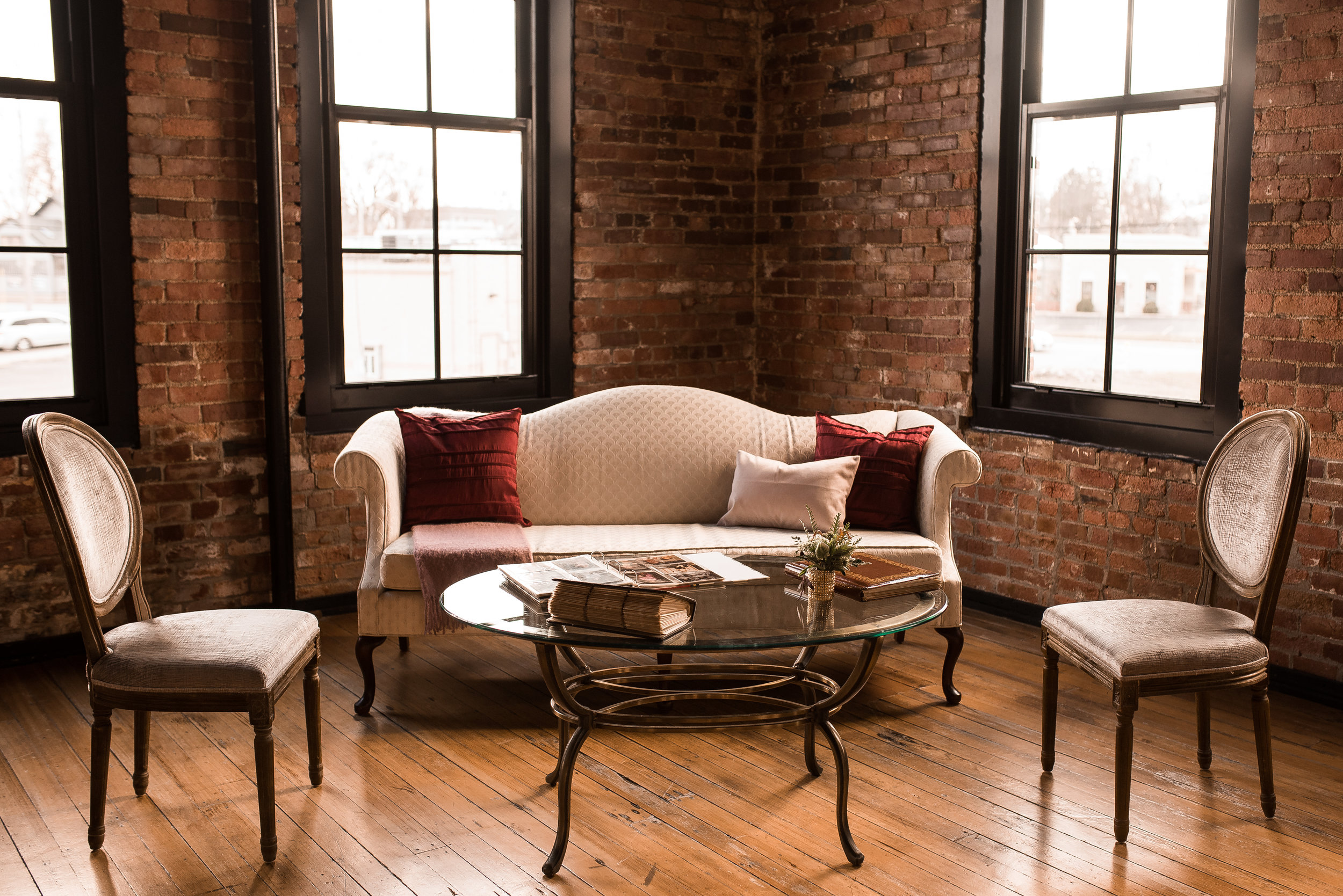 The Jane sofa along with the Valerie chairs make a great lounge - we brought out the family photo albums to share with guests!