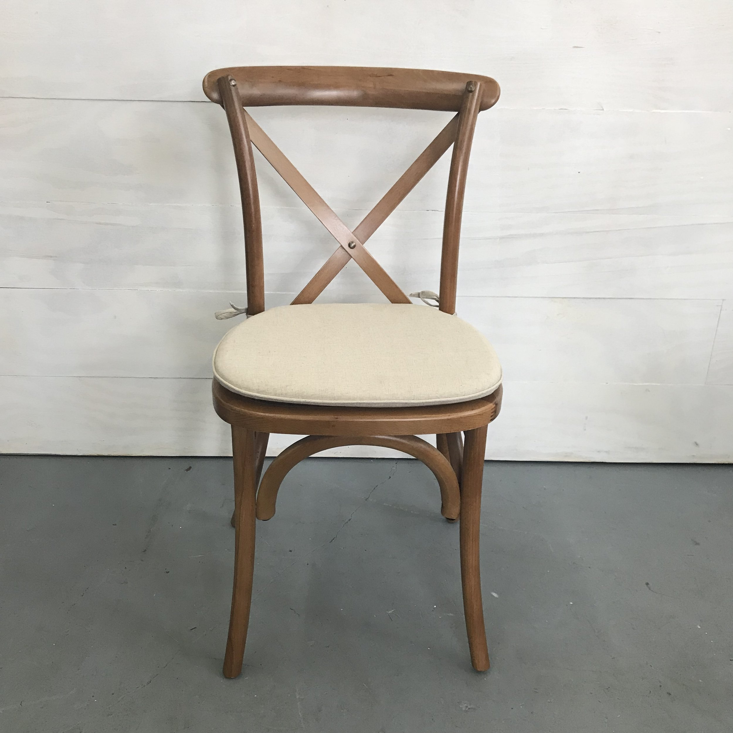 Spruce Rentals- Vineyard Crossback Chair with Cushion
