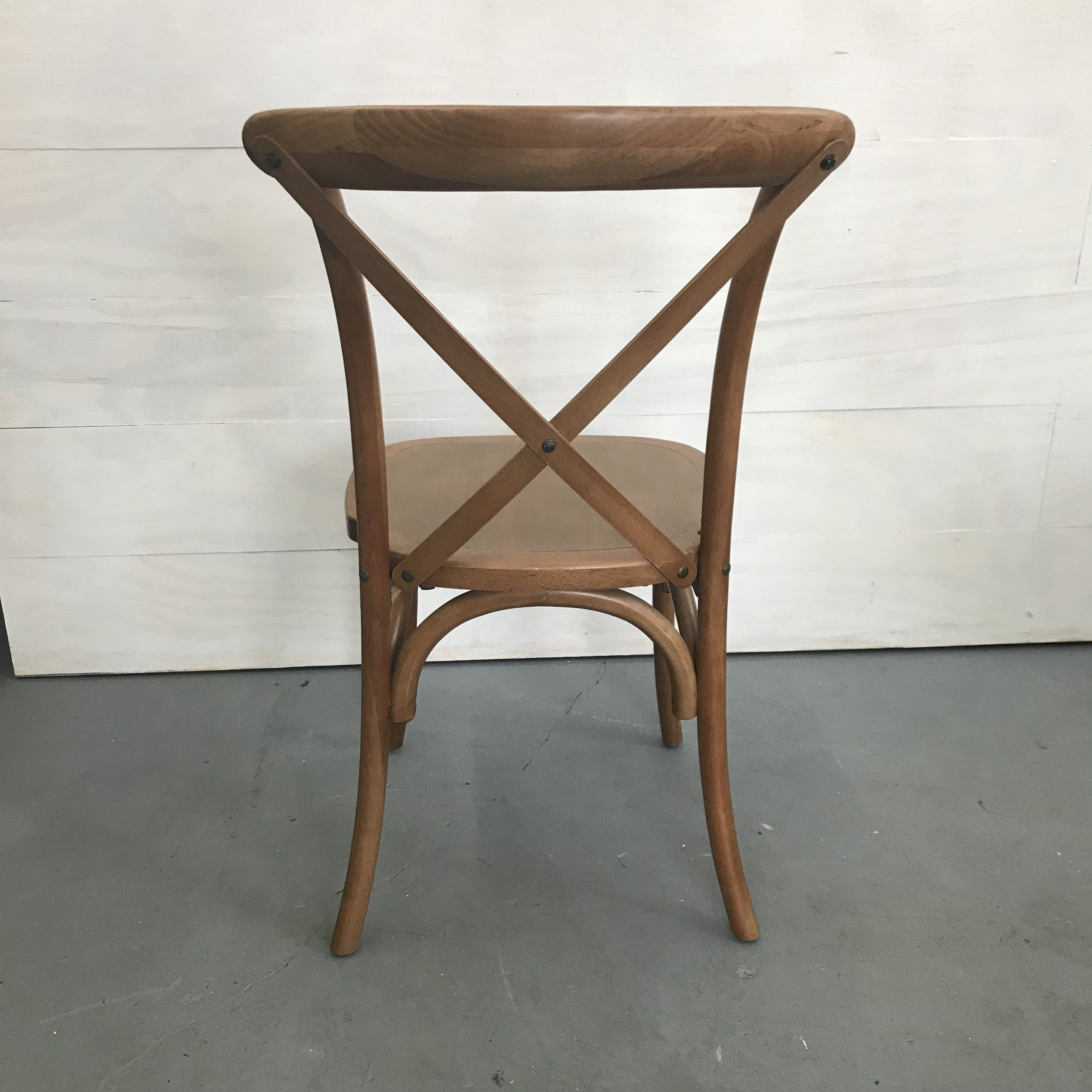 Spruce Rentals - Vineyard Crossback Chair back view