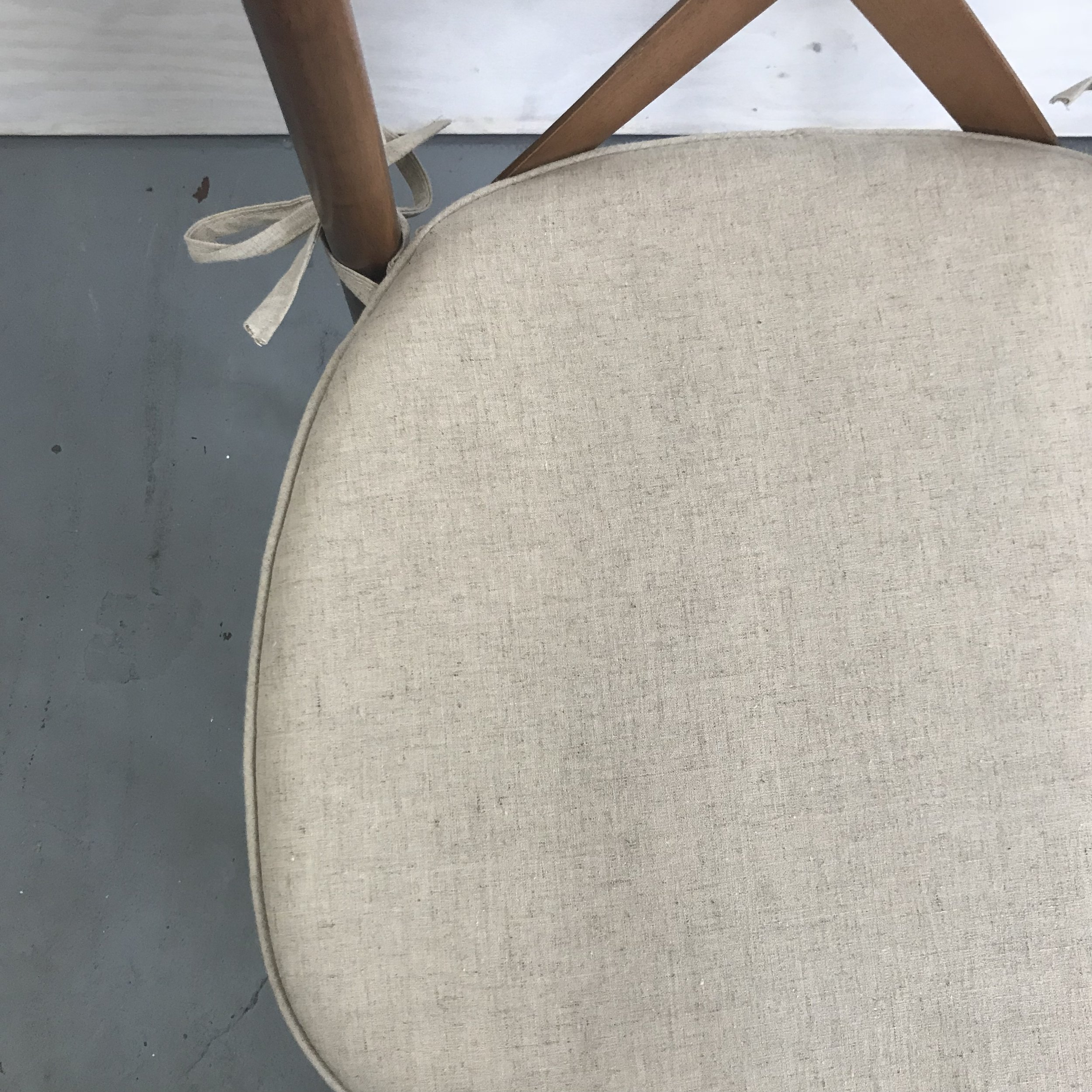Spruce Rentals - Vineyard Crossback Chair Cushion detail
