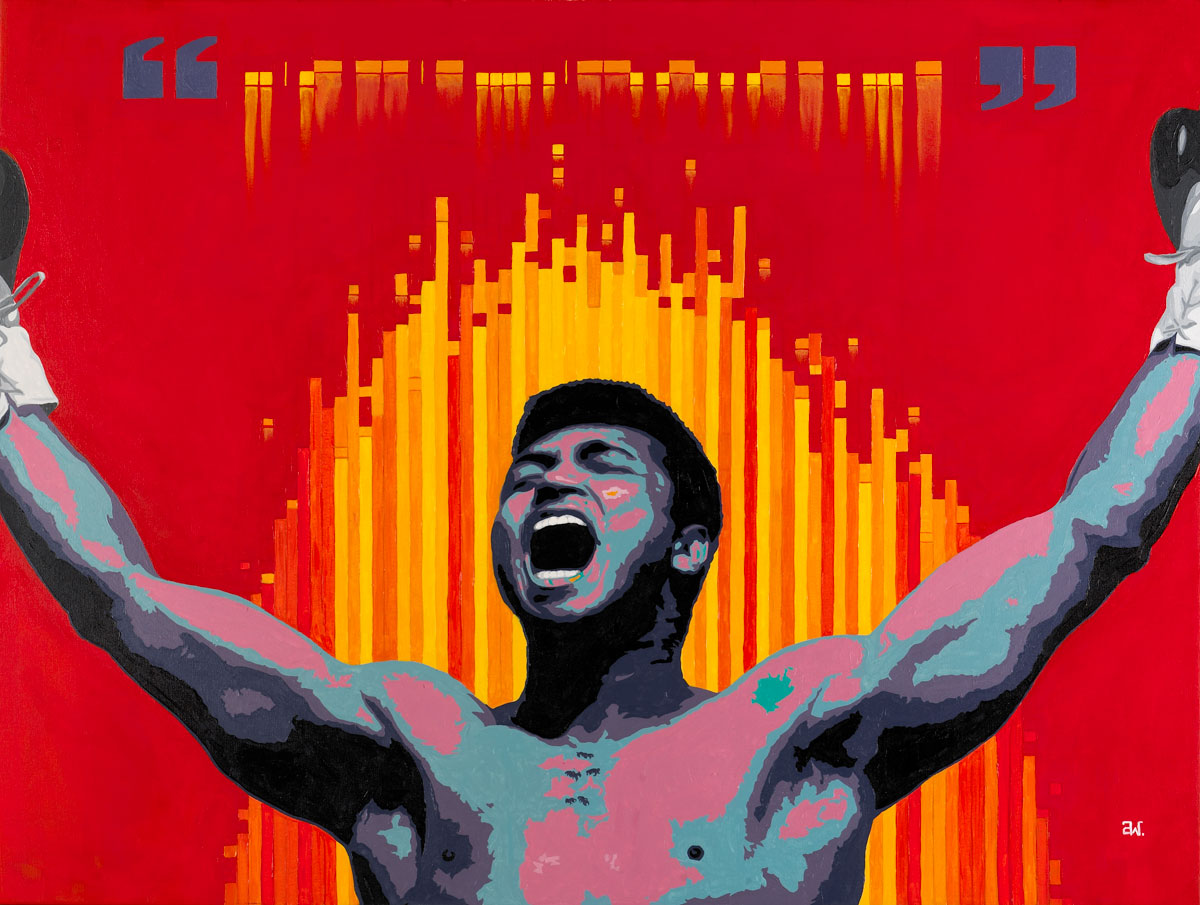Blck Prism presents the art prints on canvas and framed of Ali