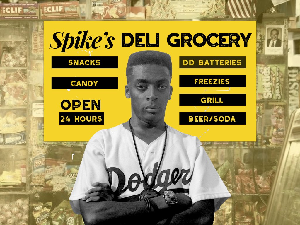 Spike lee films characters told as products in a Bed stuy Brooklyn bodega
