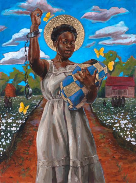 StephenTowns_The Righteous and the Wise, and their Works are in the Hand of God_2016_Acrylic Oil Metal Leaf on Canvas_40x30.jpg