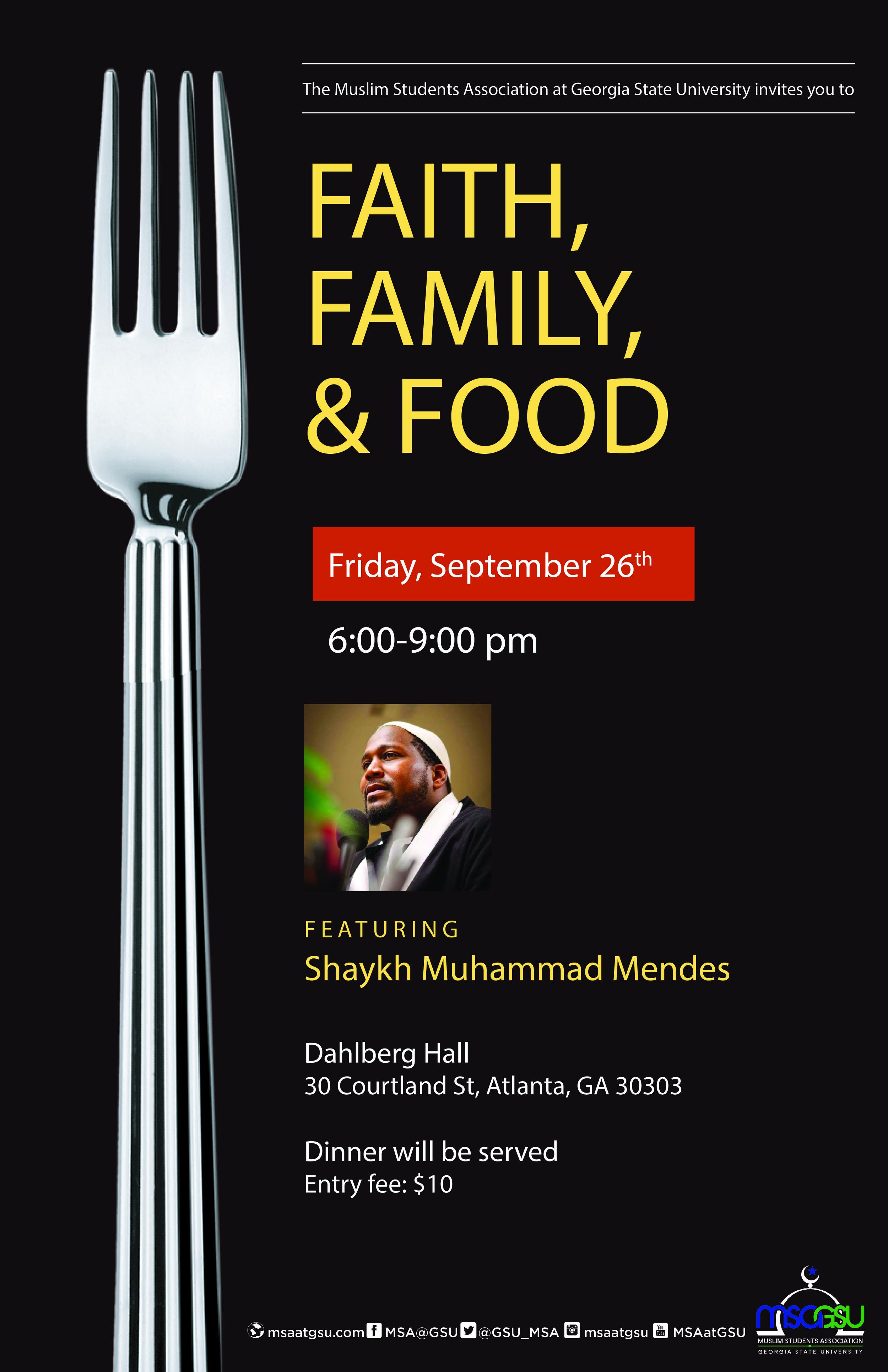 Faith Family and Food