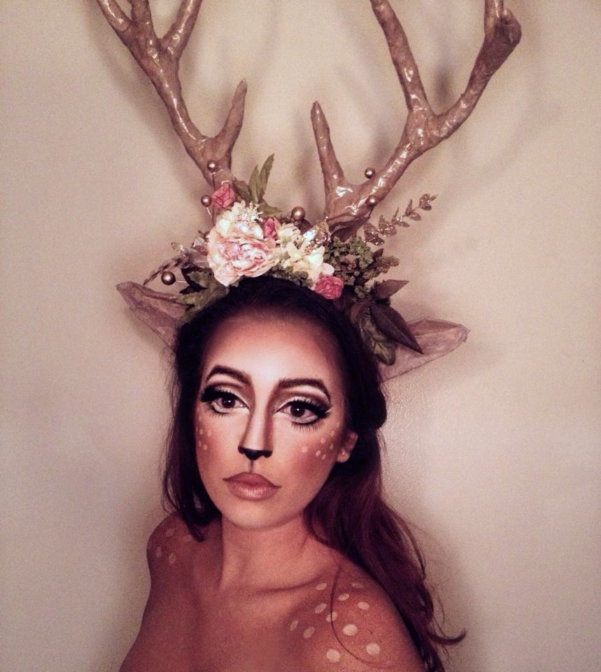 Look 7 / Day 7: Fawned of you my deer. (click  here  to see how I made this antler headpiece from scratch)