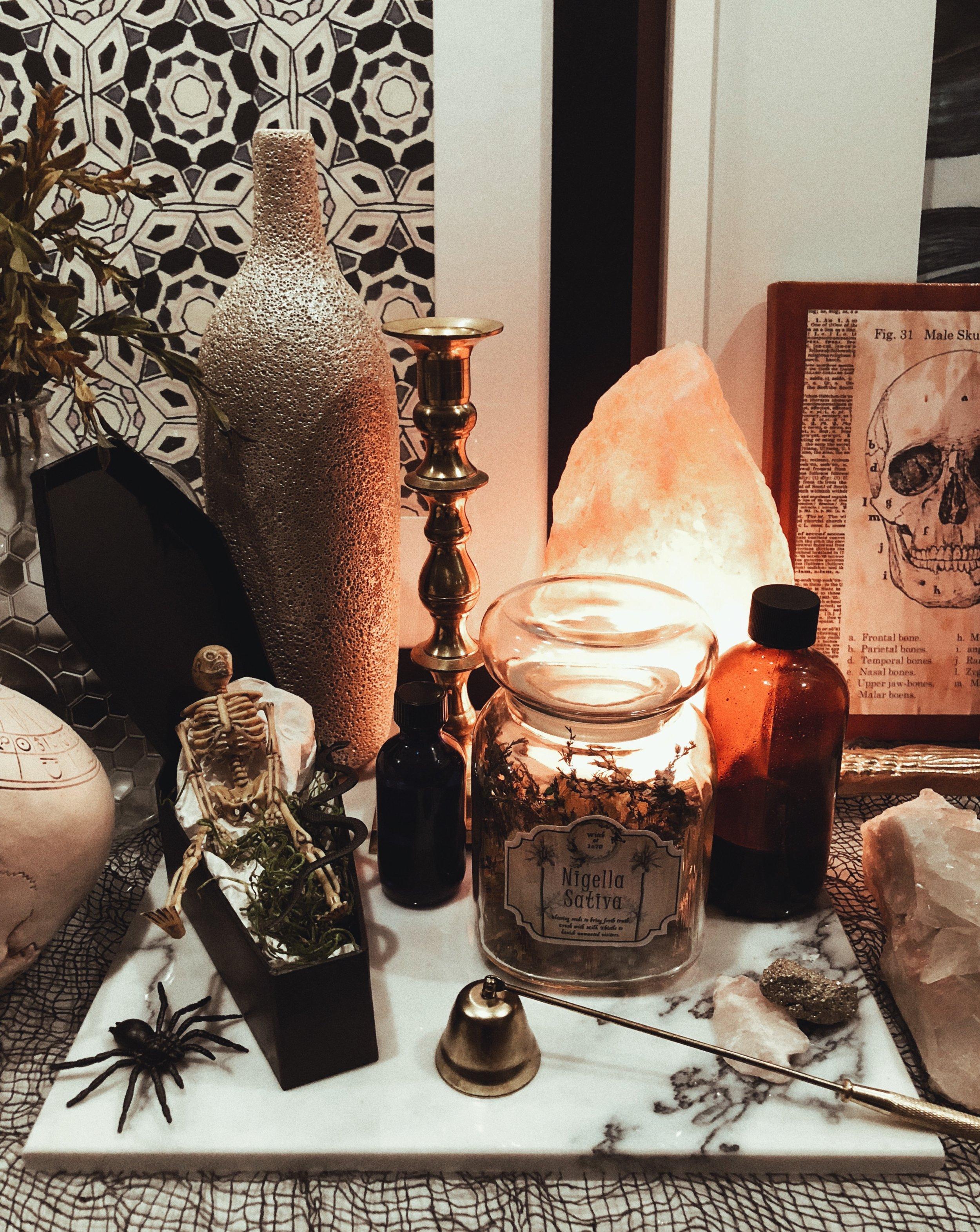 Halloween home decor apothecary creepy chic home interior design.jpg