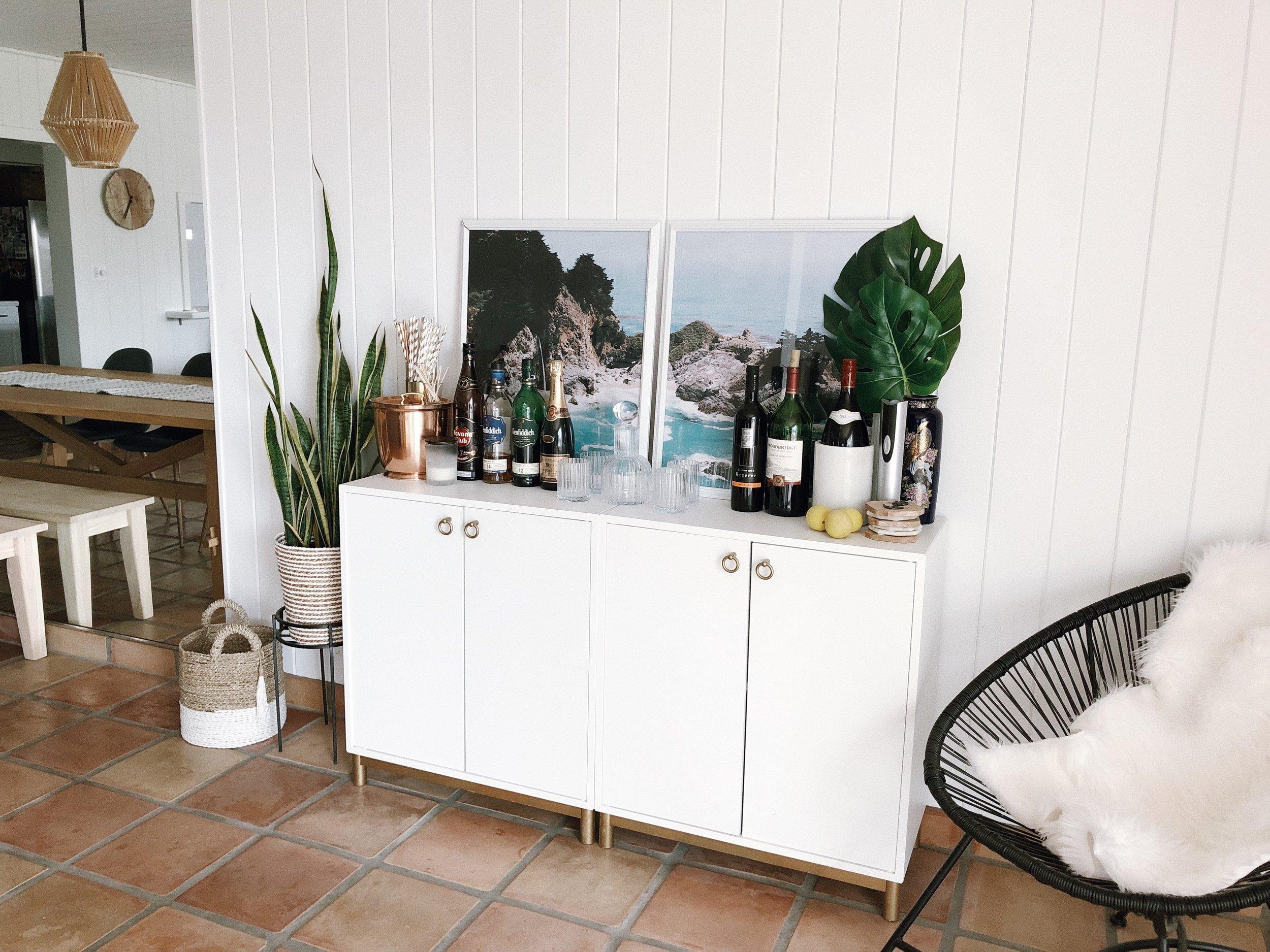 Modern Bohemian Home Decor Living Room Interior Design bar cart.jpg