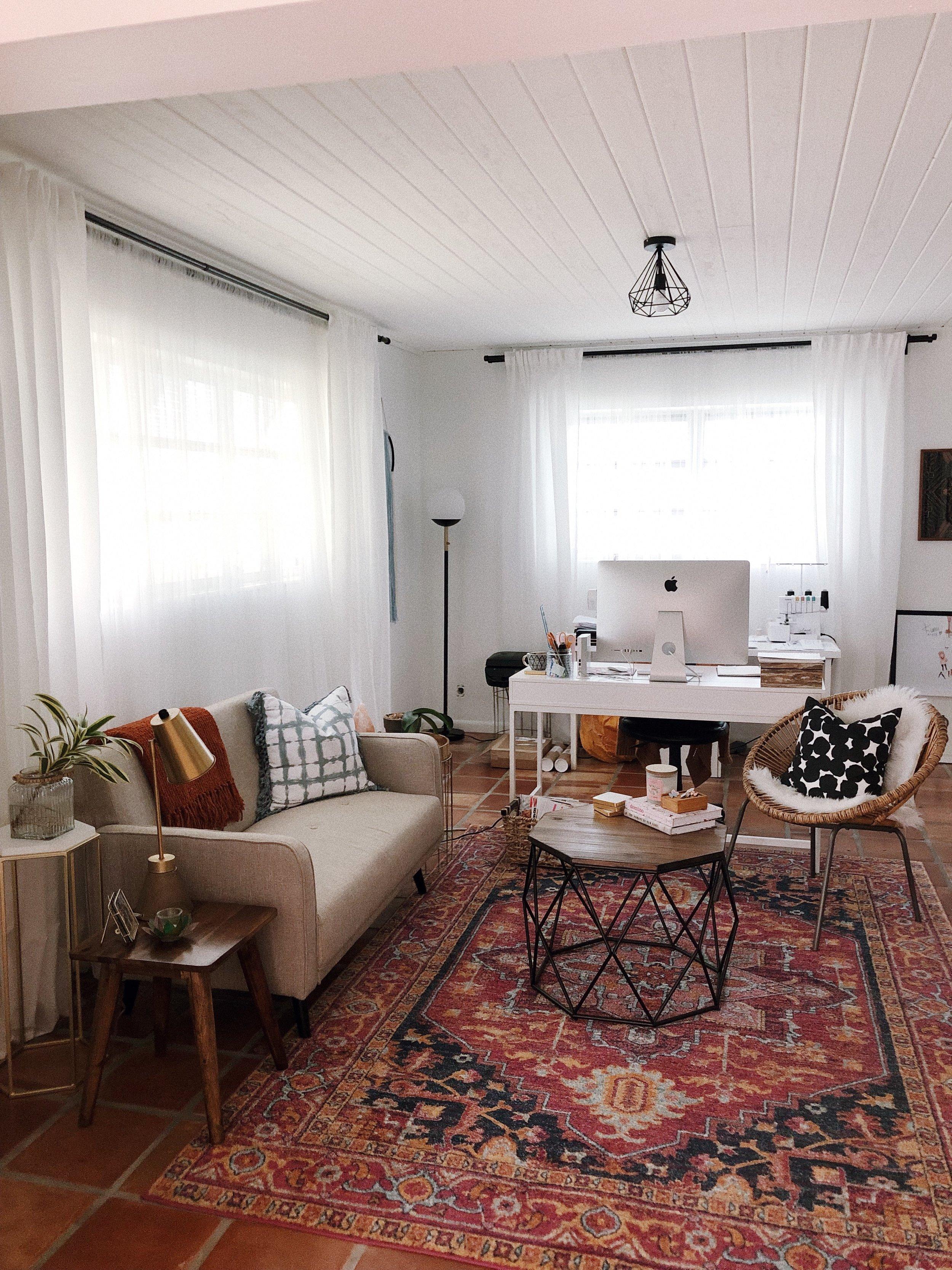 Modern Bohemian Home Decor Living Room Interior Design home office 2.jpg