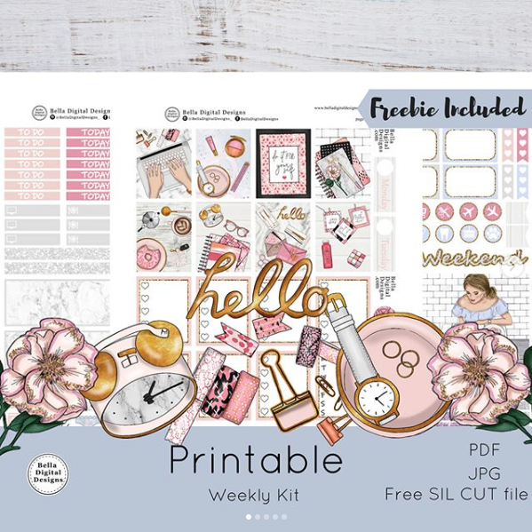 Planner Printables - via  @belladigitaldesigns_