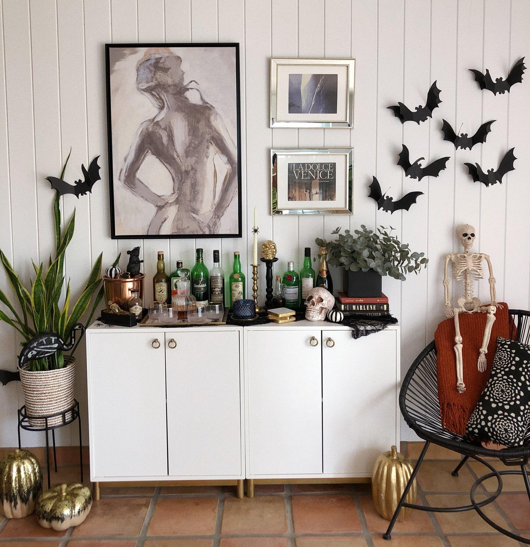 Chic Bar Console Halloween Decor The Weekend Gypsy