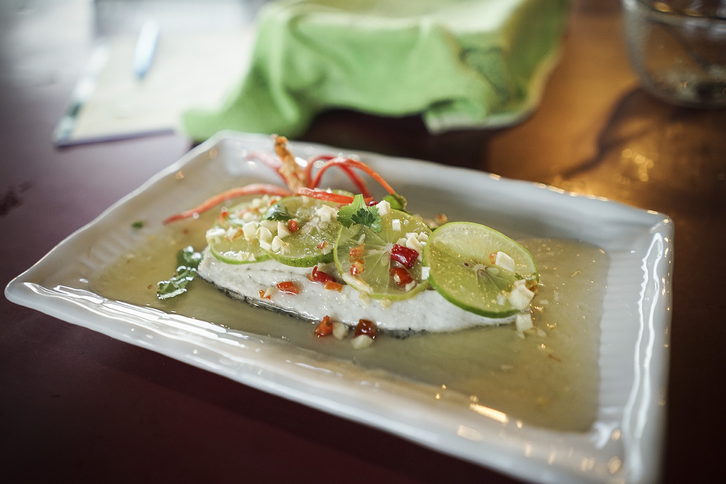 Steamed fish with Lime and Chili