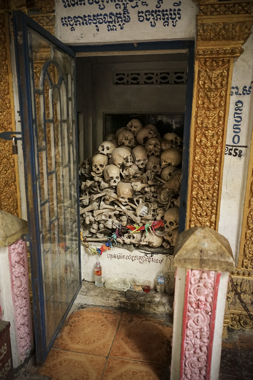 Memorial to those killed by the Khmer Rouge
