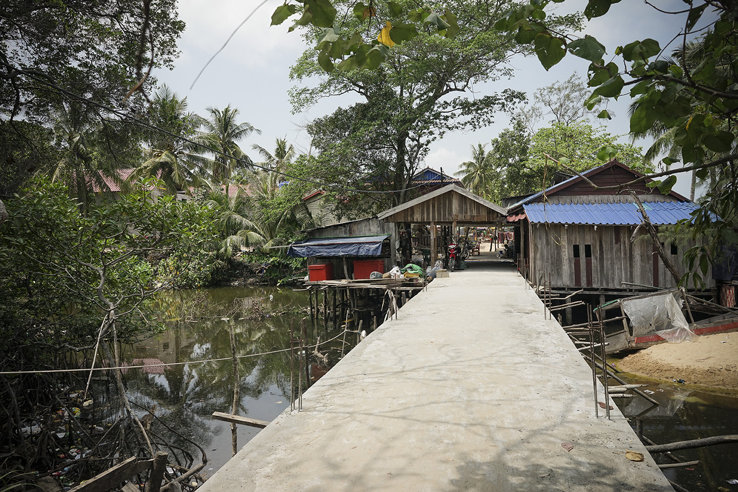 Entrance to the fishing village