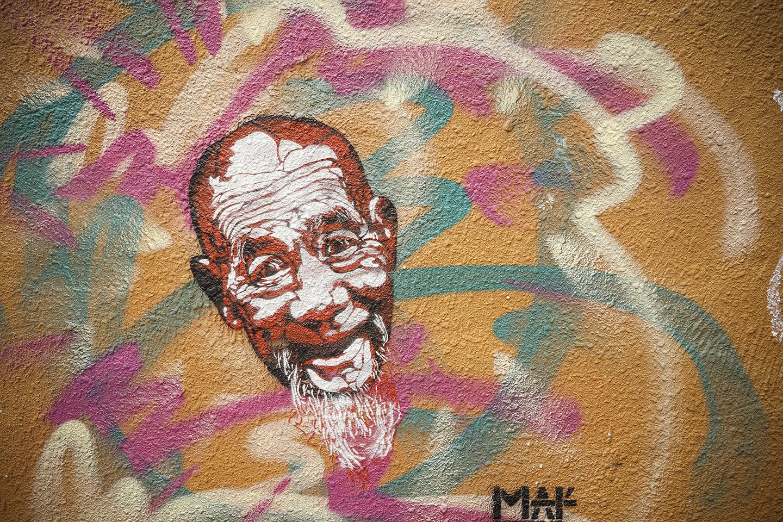 Street art at Stanley Market
