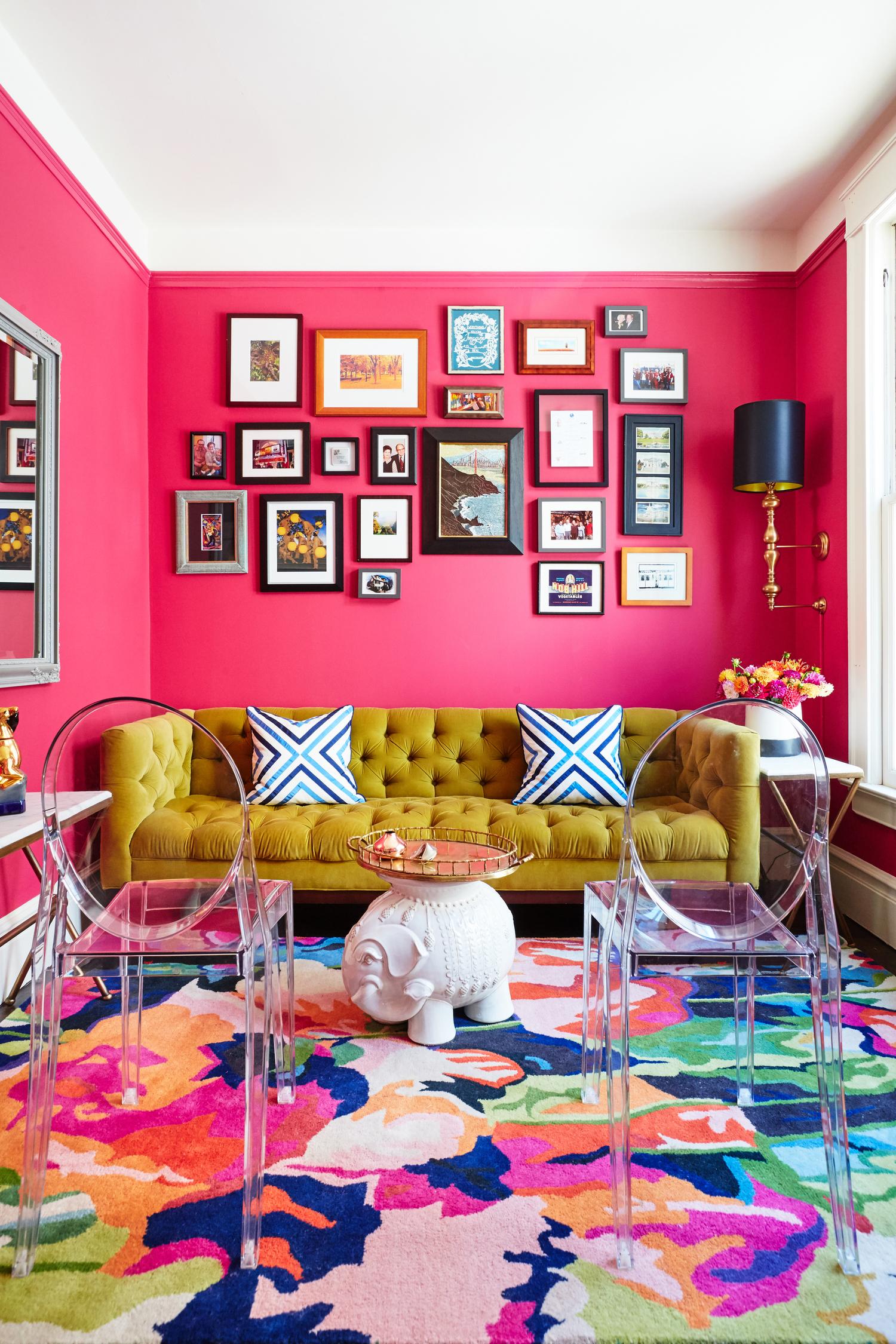 Noz Design | Fuschia Living Room
