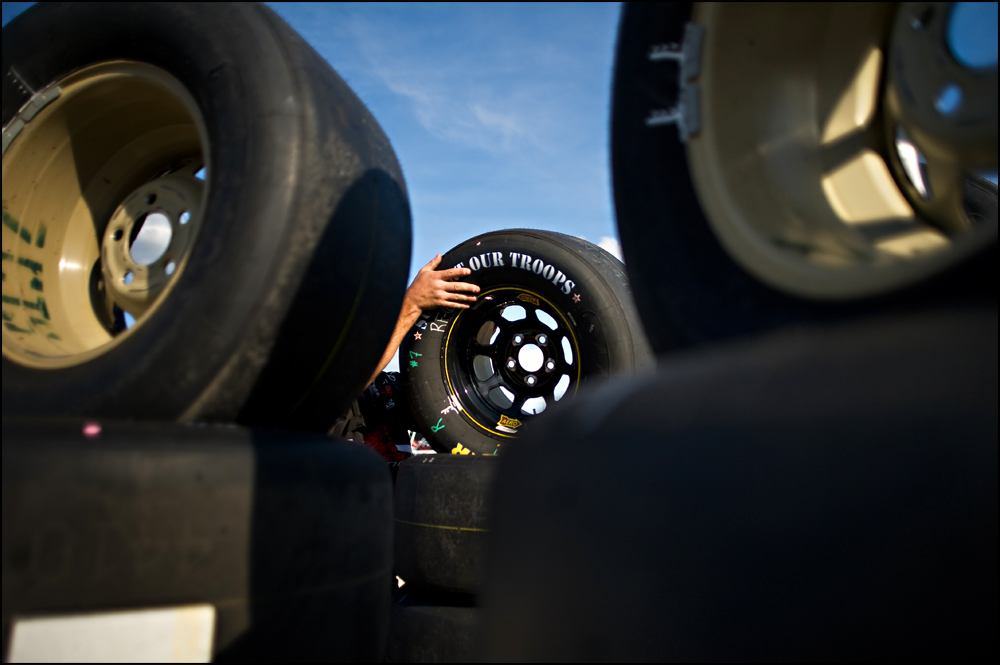 Fans and racers prepare for this weekends race at Chicagoland Speedway in Joliet on Thursday, September 15, 2011.    Brian Powers~Sun-Times Media