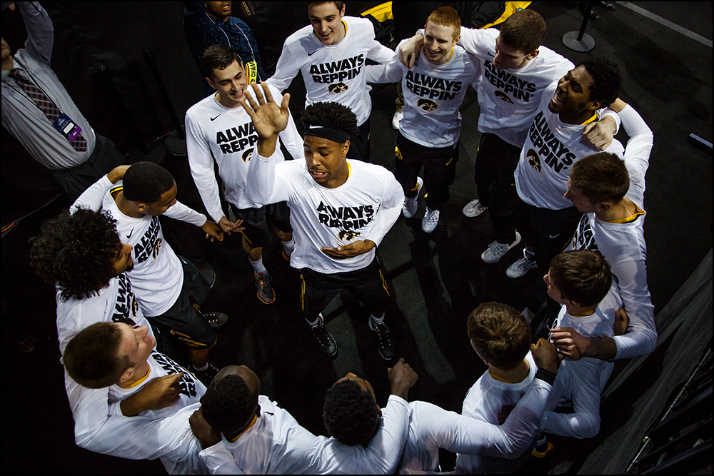 Iowa cheers before their second round NCAA Basketball Championship game against Villanova on Sunday, March 20, 2016 in New York City, New York. Villanova would go on to win 87-68.