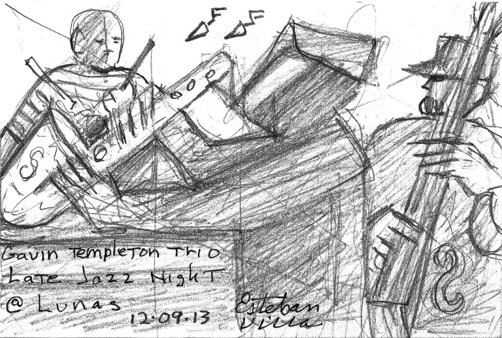 pencil sketch by Esteban Villa