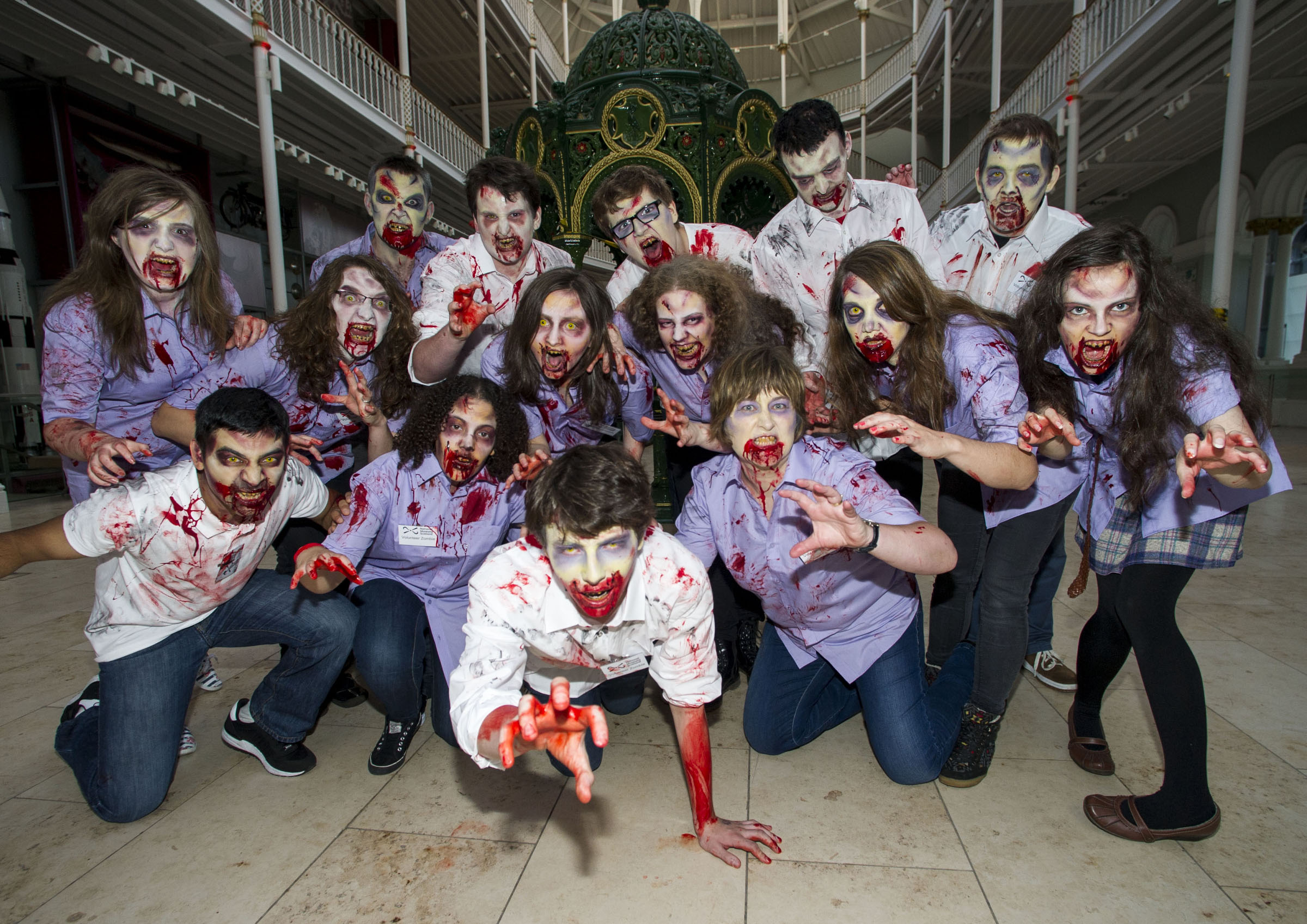 The zombie horde/Scotland Creates Gang Photo Credit:  Ian Jacobs.