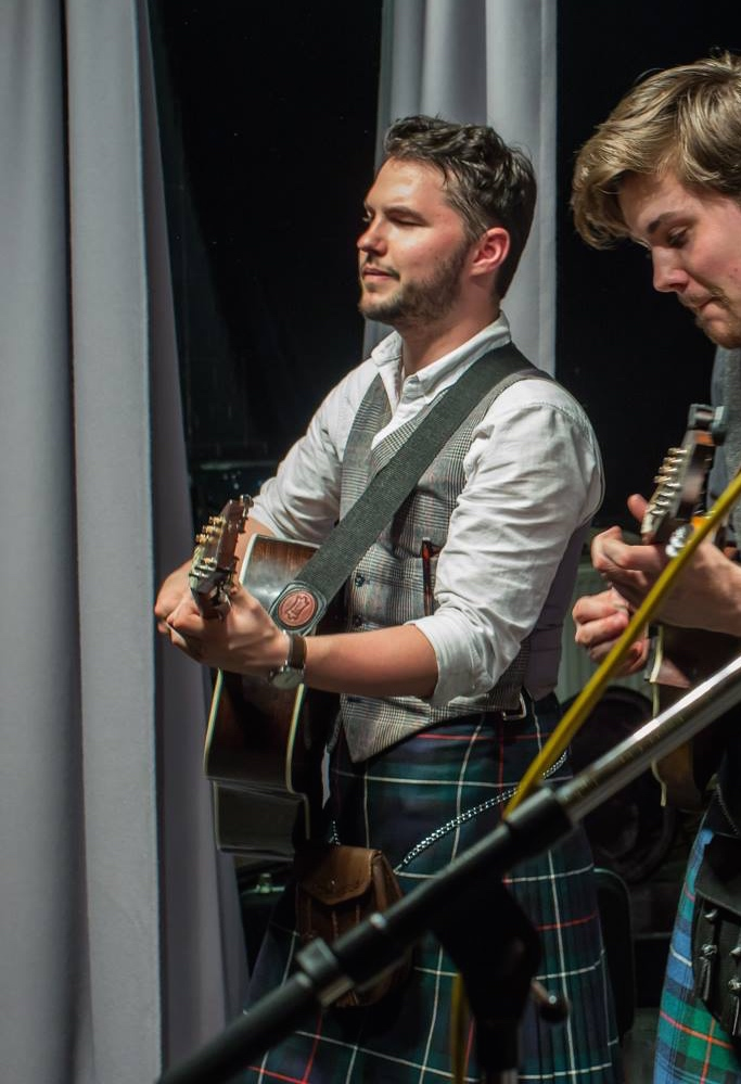 Gary Rafferty  Guitar, Band & Sound Tech  With a background in music, Gary is the Science Ceilidh guitarist who looks after the sound engineering and technical side on stage.