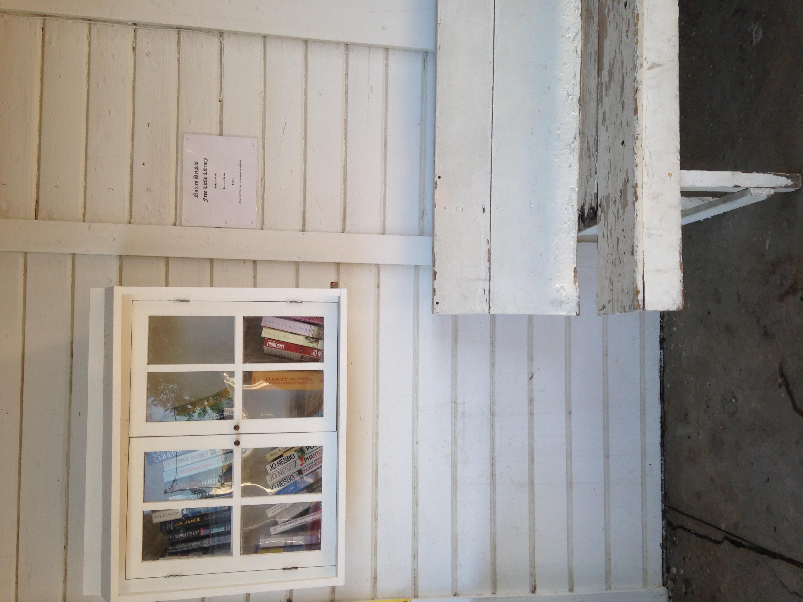 The Little Store lending library.