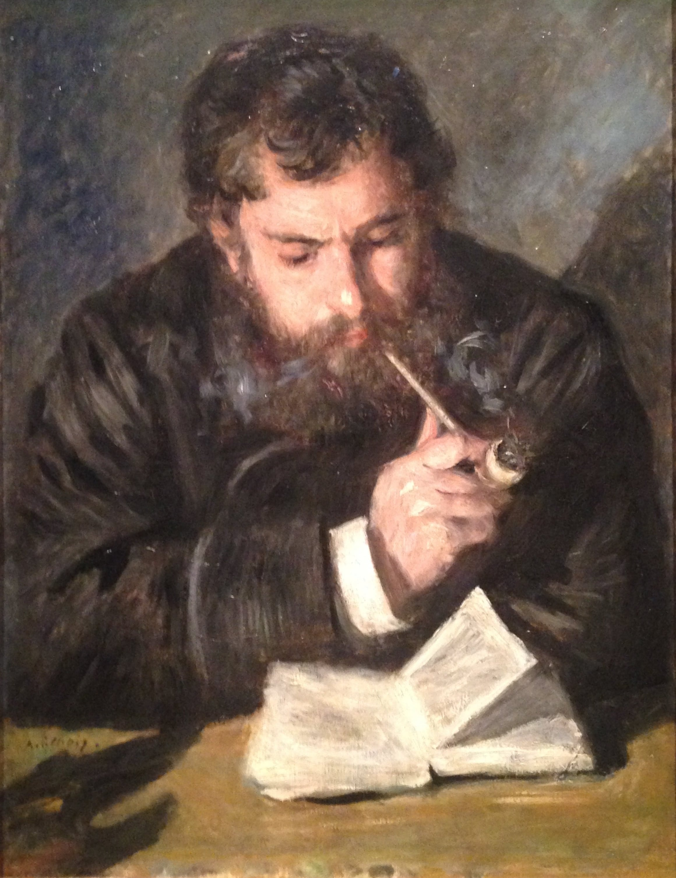 Claude Monet as painted by August Renoir in 1872.