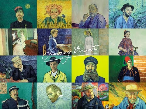 "The cast of characters in ""Loving Vincent."""