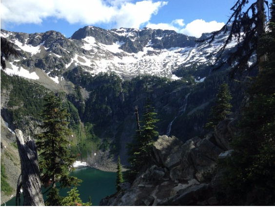 """Rainy Lake, North Cascades, Washington State ."" July 2016. Photographe, M. Lamery."