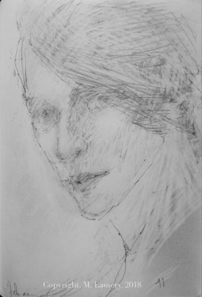 Self-portrait. M. Lamery, February 2018.