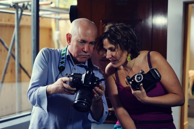 Steve McCurry: Ingrid Guyon, Photographer on location at Silverprint, 2013 Commissioned by South Bank Tower, curated by Futurecity - Photo credit: Thierry Bal