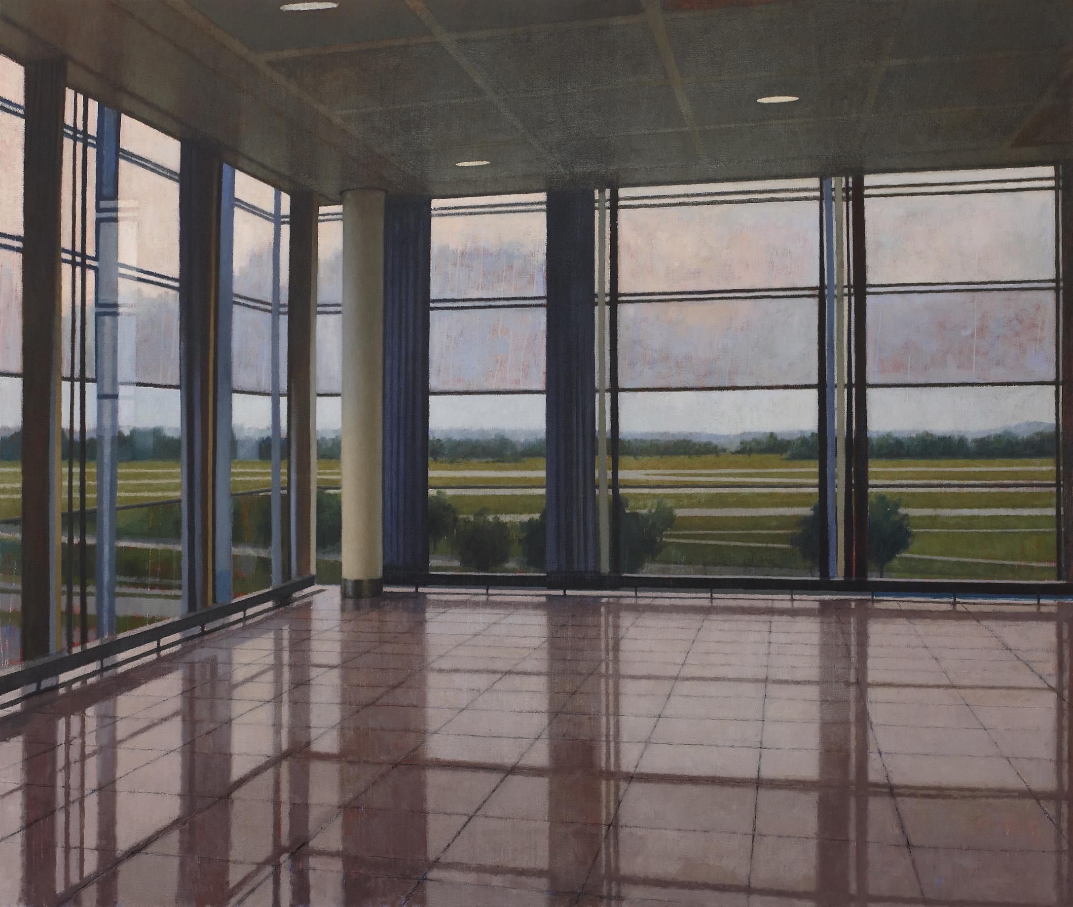 Interior 279 (Munich II), 2011, oil on linen, 1980mm x 2300mm