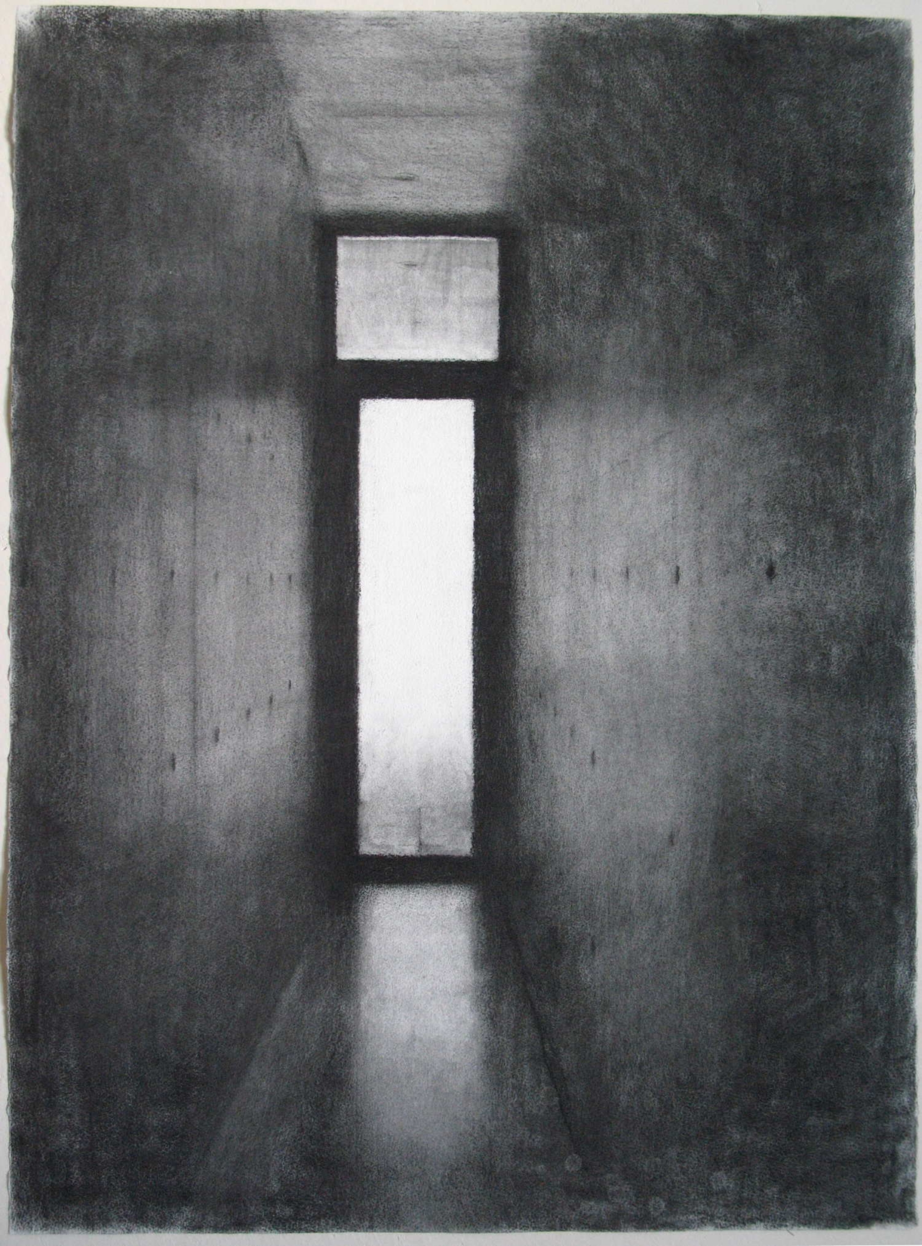 Drawing (Tadao Ando at Vitra I), 2007, willow charcoal on paper, 580 x 750mm.