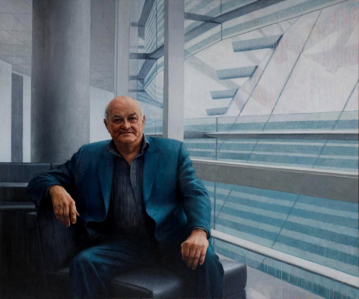 Mr Owen Glenn, 2009, oil on linen, 2350mm x 1800mm.