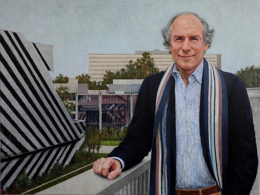 Dr Alan Finkel, Chancellor - Monash University, 2015, Oil on linen, 1750mm x 1400mm
