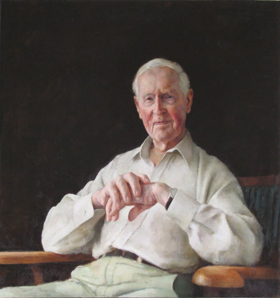 Portrait of Frank Fenner AC CMG MBE, 2007, Oil on linen, 1070mm x 1010mm.