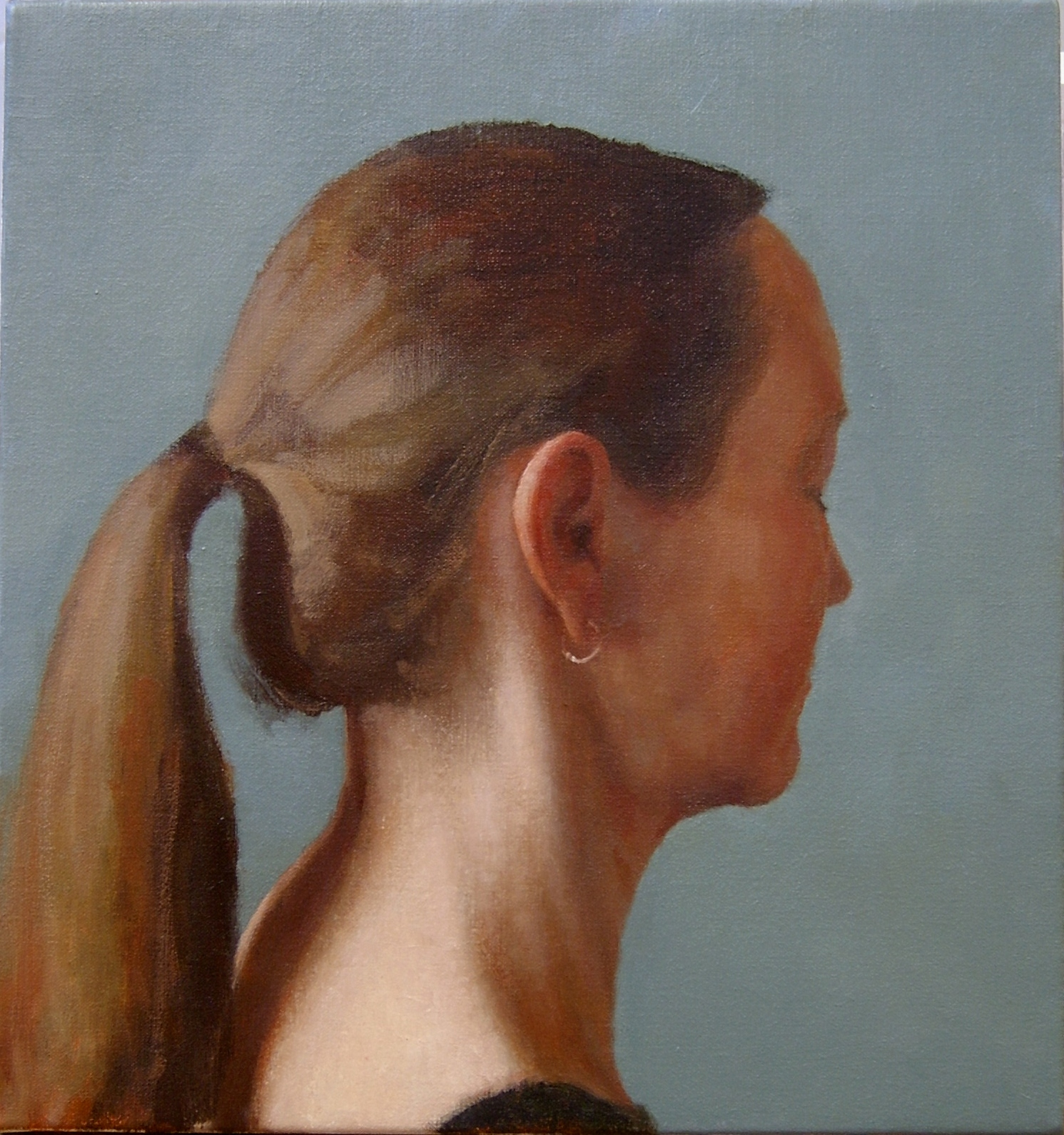 Interior (Anne), 2004, Oil on linen, 400mm x 375mm.