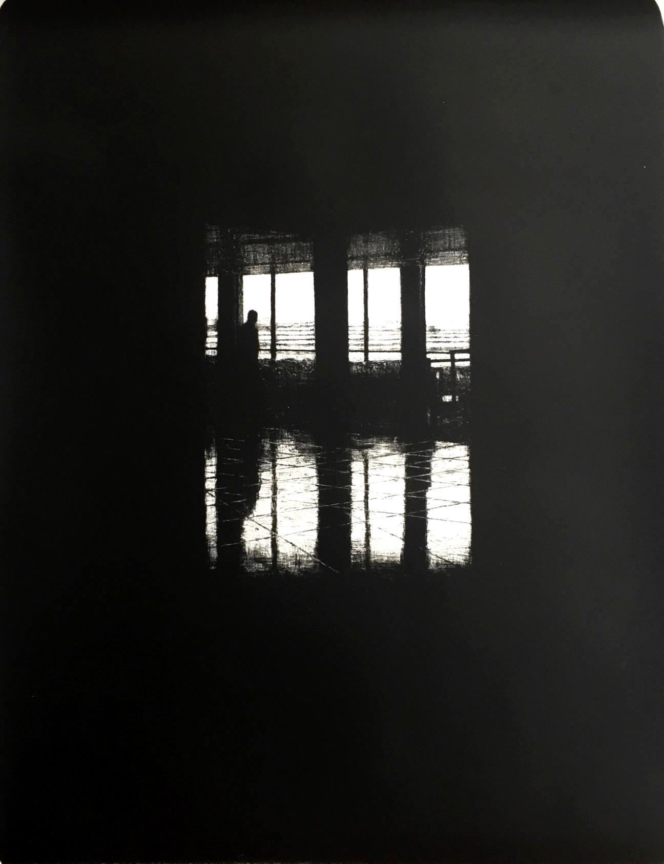 Departures II (JFK), 2016, lithograph, 55cm x 75cm, Ed. 15