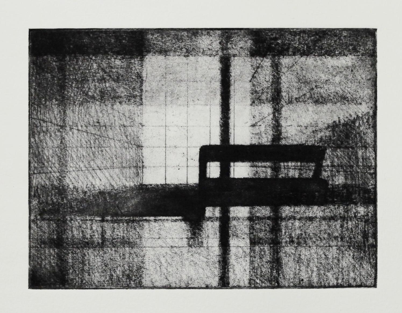 Interior (Foyer II), Soft ground etching, 195x146mm, 2017