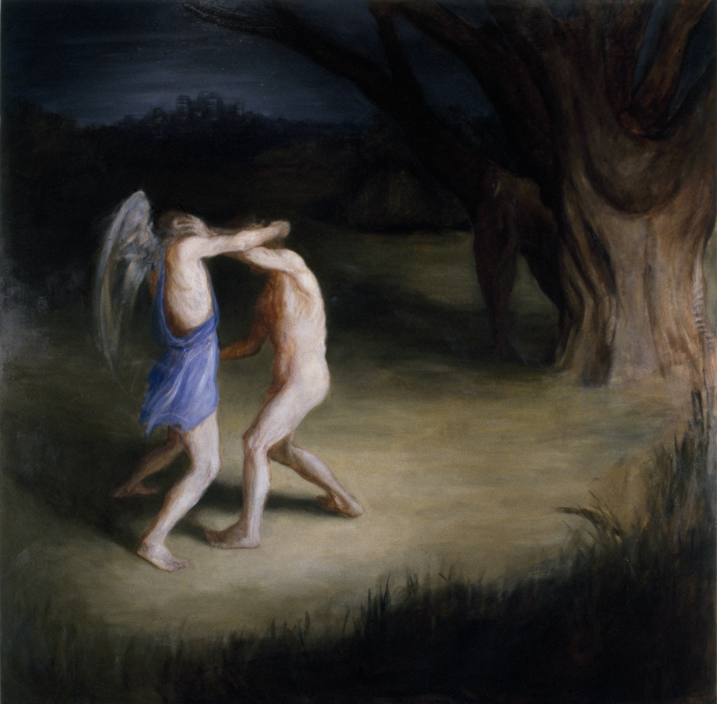 Jacob and the Angel II, 1988, oil on canvas, 1800 x 1800mm