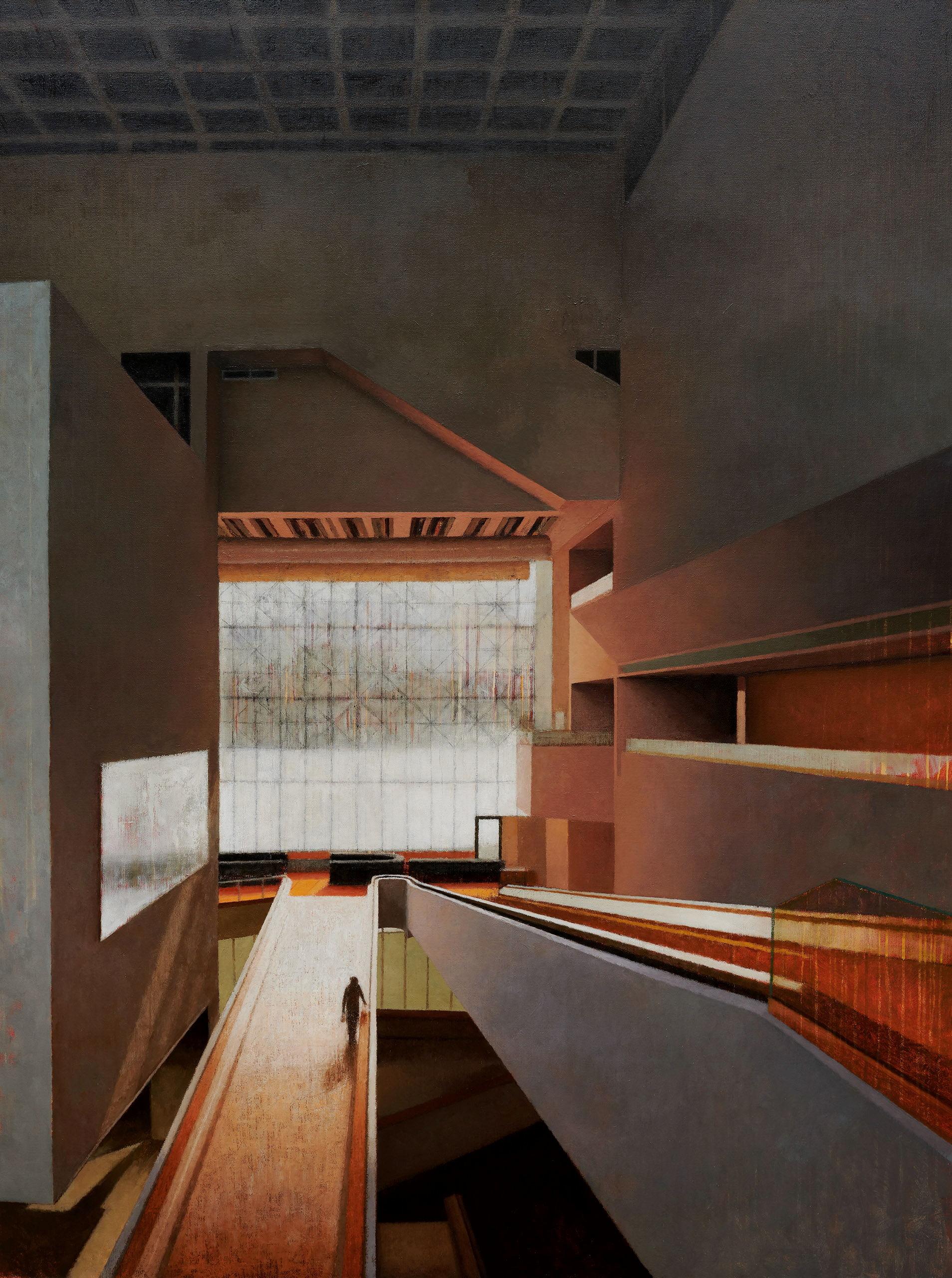 Interior 405 (High Court, morning light), 2019, oil on linen, 200cm x 150cm